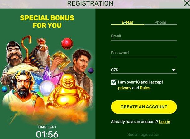 Lucky Bird online casino - registrace