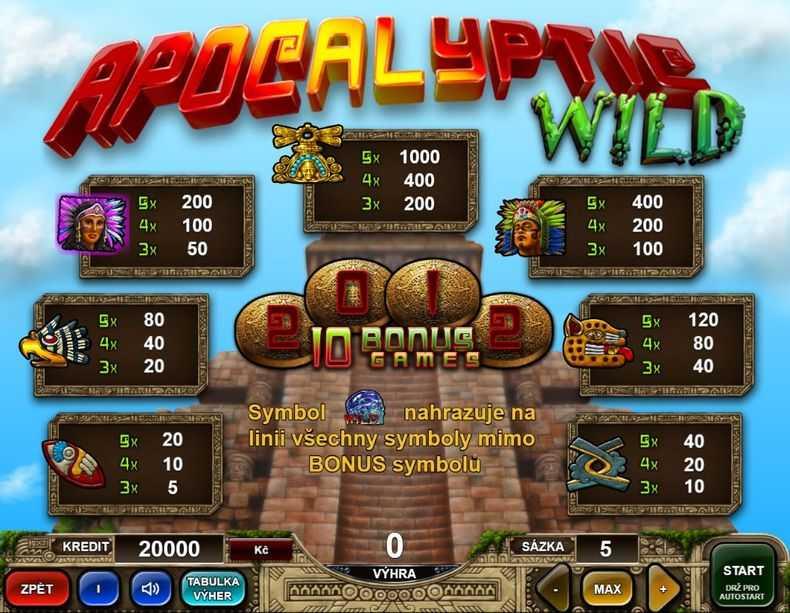 Výherní automat Apocalyptic Wild