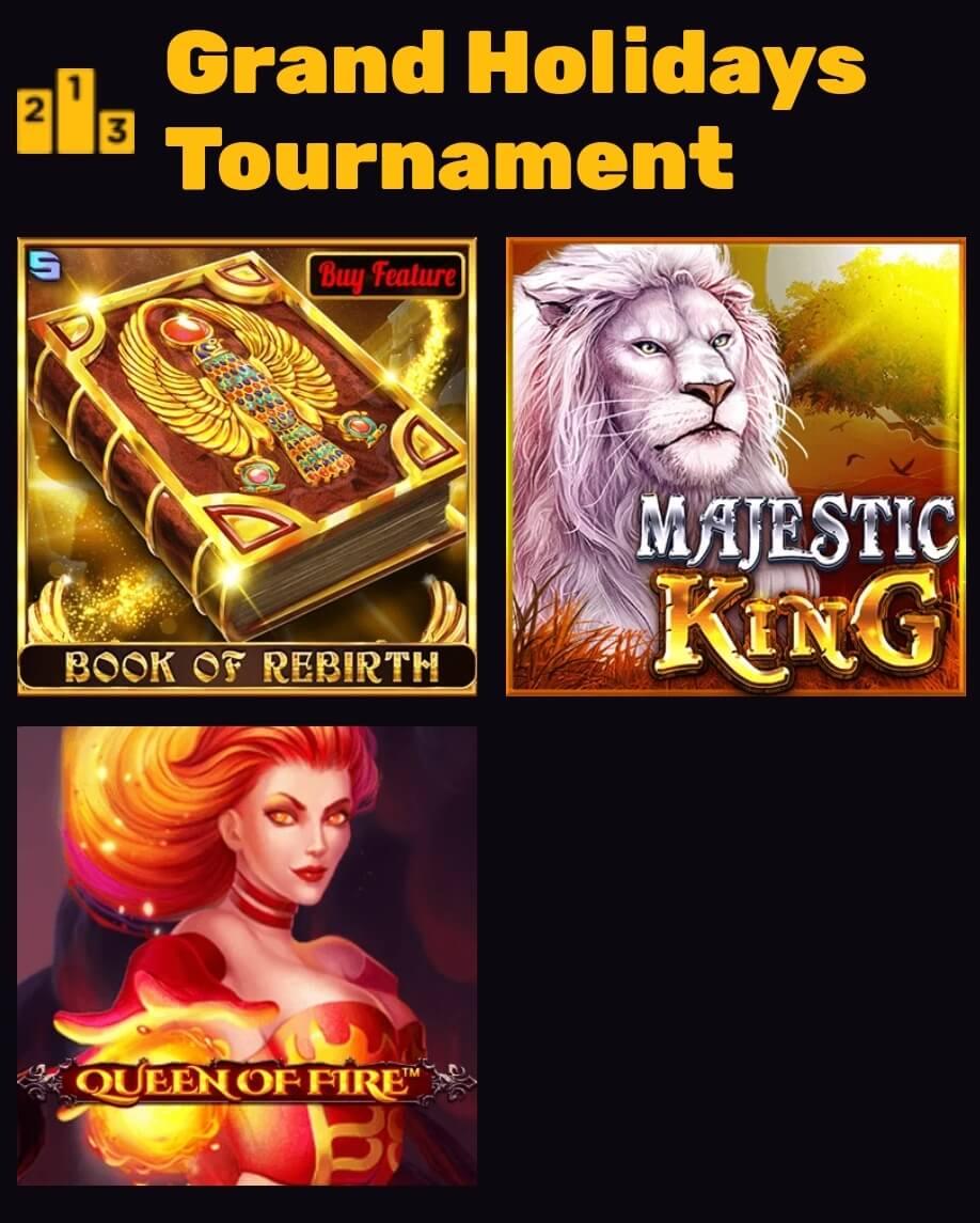 Playamo Grand Holidays Tournament - zapojené hry