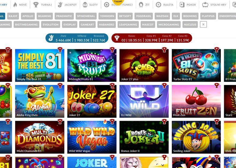 Herní nabídka - Power Casino