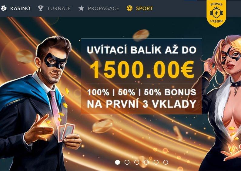 Uvítací bonus - Power Casino