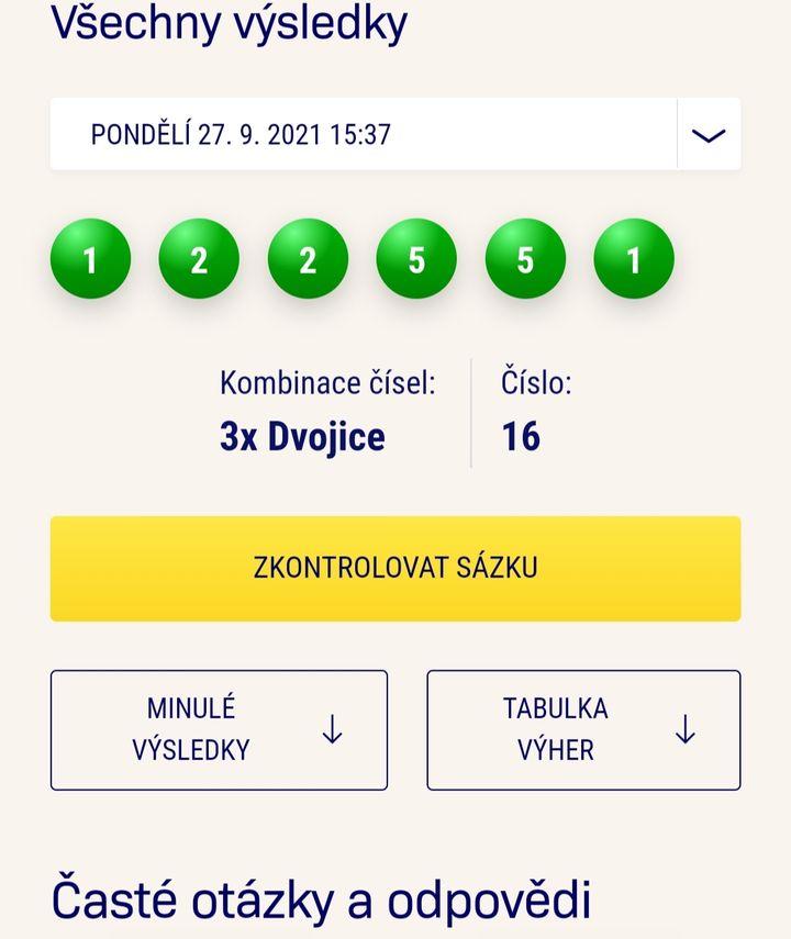 Sazka loterie Kameny