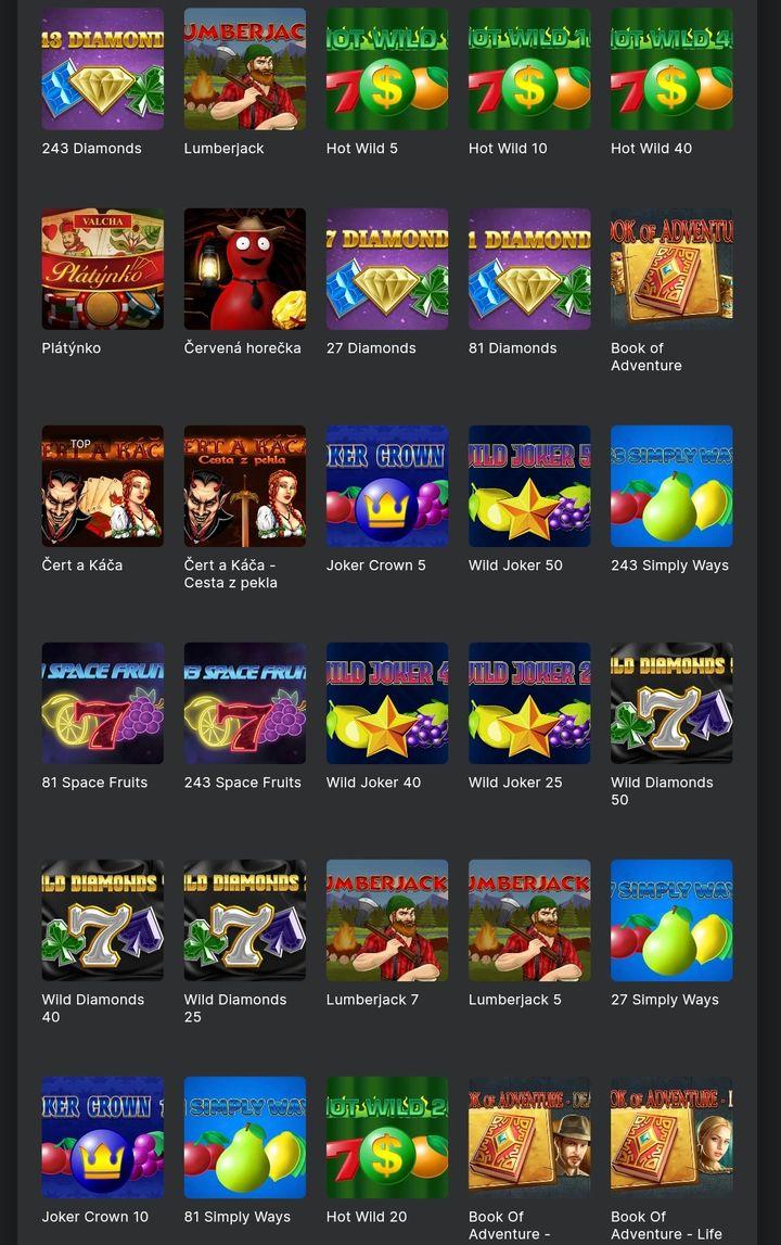 Tech4Bet nabídka her