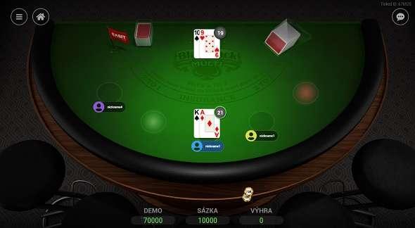 Živá hra Multi blackjack