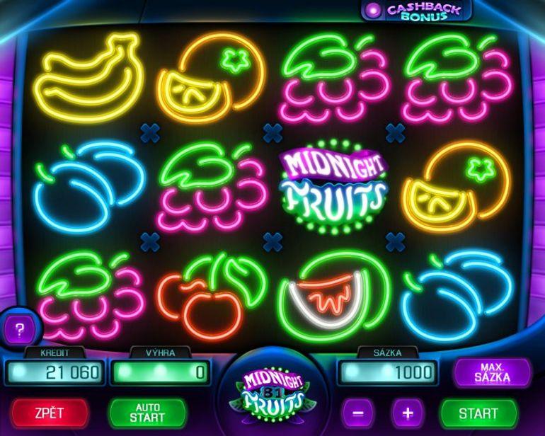 Automat Midnight Fruits - gameplay
