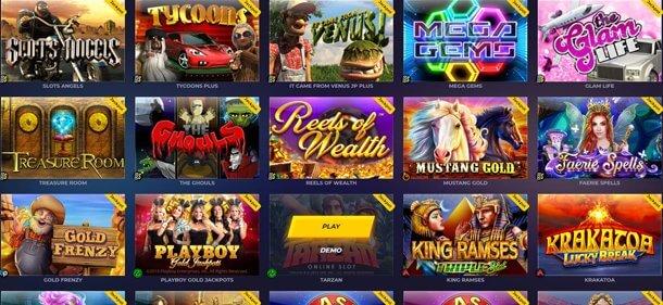 ZigZag 777 Casino - herní katalog