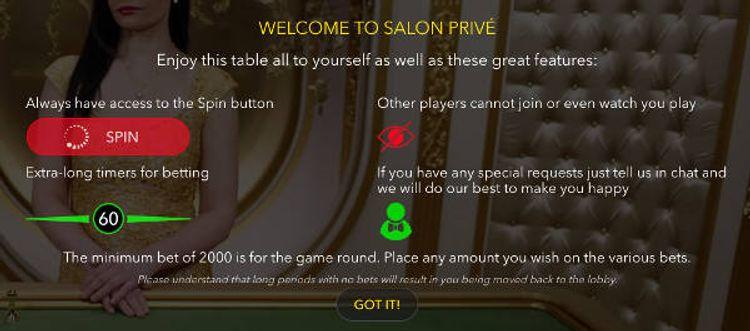 Salon Privé - úvodní zpráva
