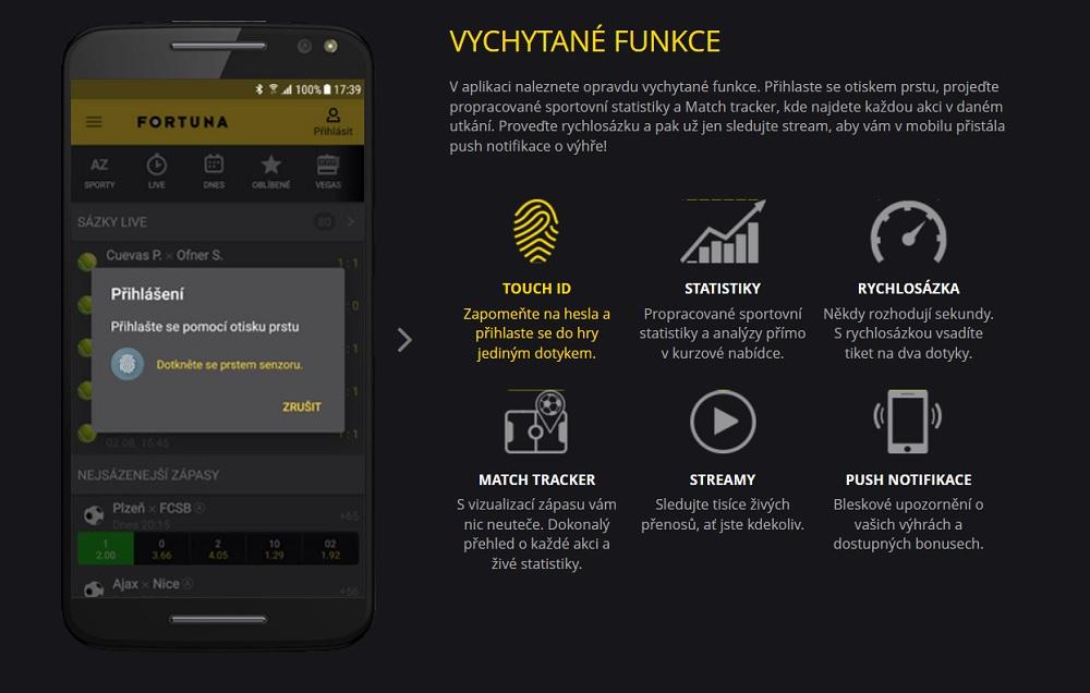 Mobilní aplikace Fortuny