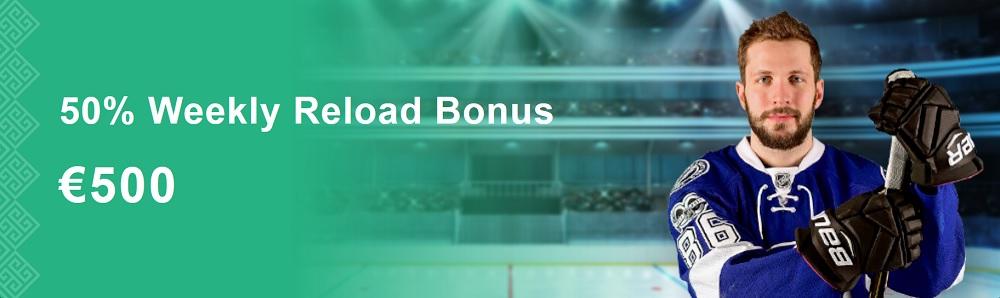 50% Weekly Reload Bonus