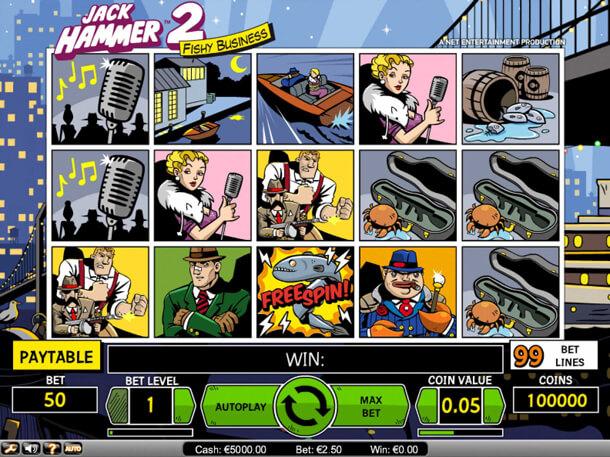 HRÁT zdarma 5válcový automat Jack Hammer 2