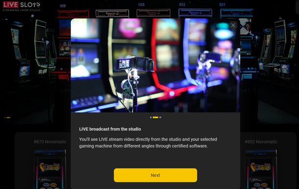 Hrát živé automaty zdarma ve Slottica Casino