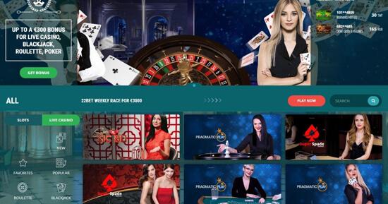 online casino 22Bet