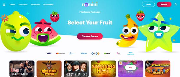 Velmi přívětivým grafickým rozhraním se může pochlubit například online casino Nomini
