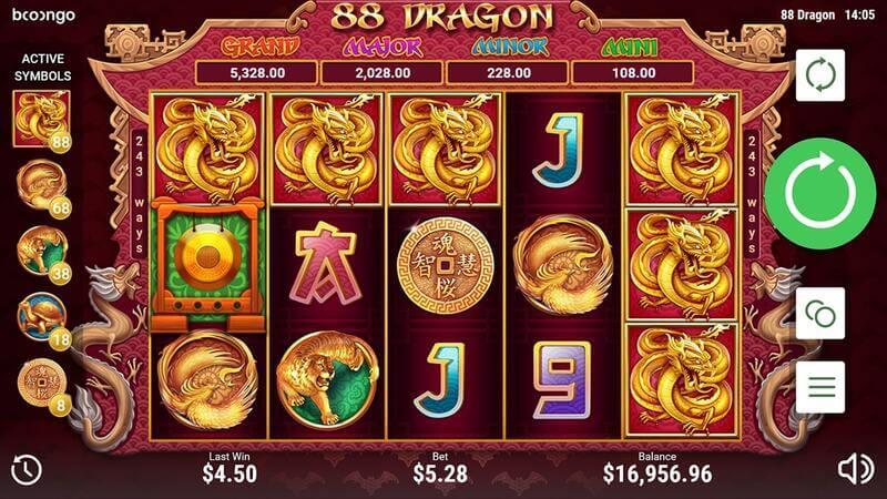 Free spiny na automaty 88 Dragons a jiné