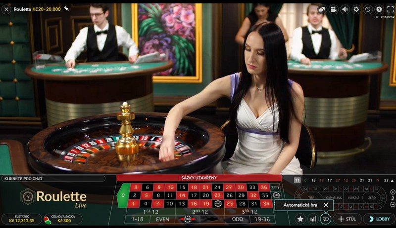 Živá ruleta v online casinu Slottica