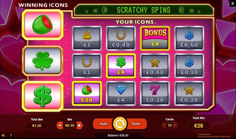 Online los Scratchy spins v online casinu Gratorama