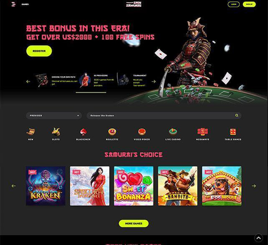 online casino Spin Samurai