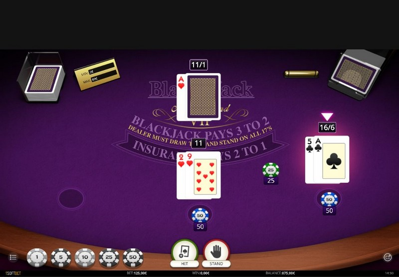 Blackjack v online casinu Alf Casino