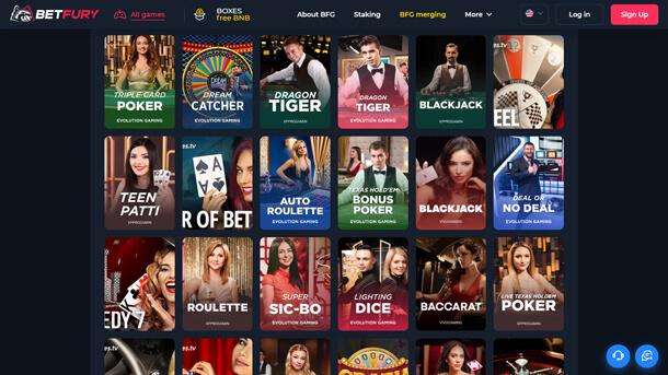Hrát v online casinu BetFury Casino