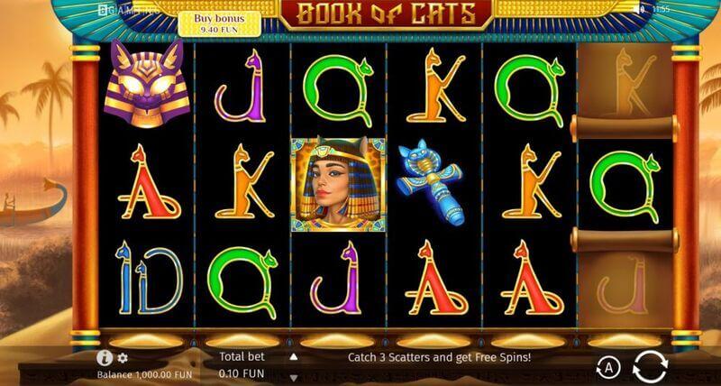 Free spiny na výherní automat Book of Cats