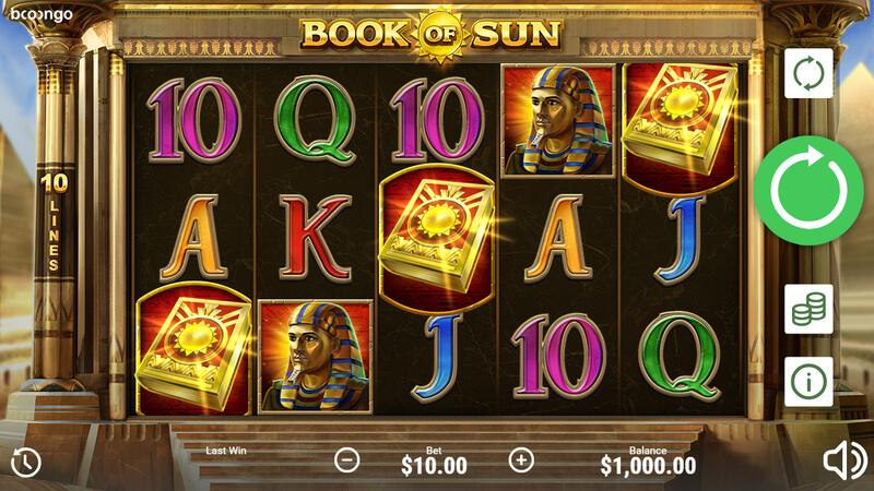 Free spiny na automat Book of Sun a další