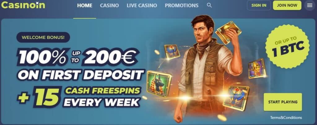 Home page online casina Casinoin