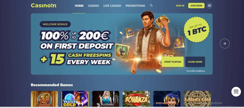 bitcoin casino Casinoin