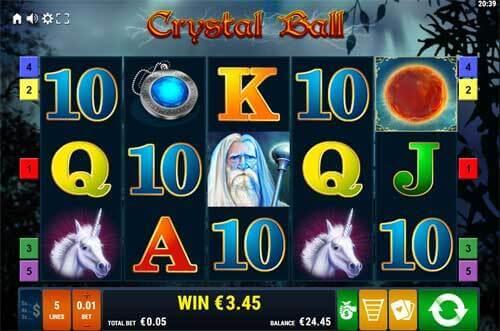 Free spiny na automat Crystal Ball