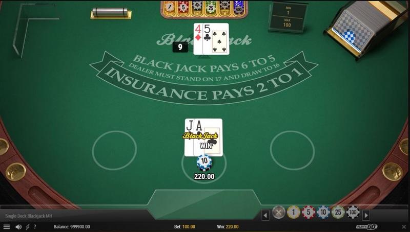Blackjack v online casinu Fortune Clock