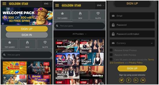 bitcoin casino Golden Star