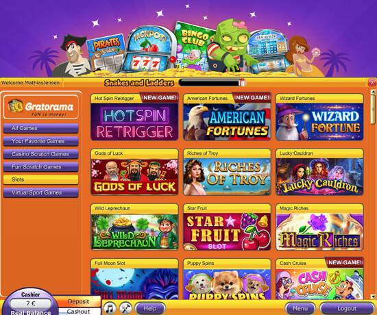 Gratorama casino lobby