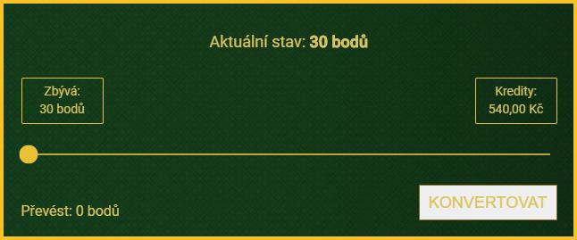 VIP program v online casinu Kartáč