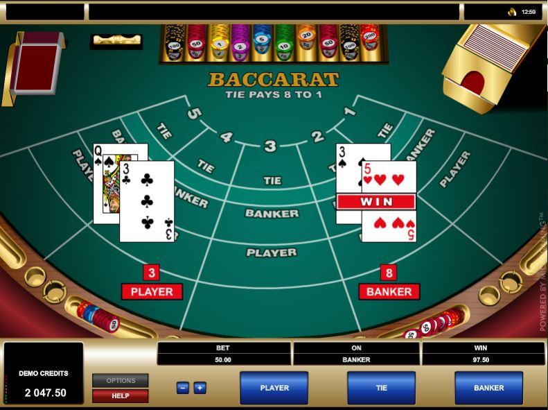 Baccarat v Kassu Casino: pohled na hru