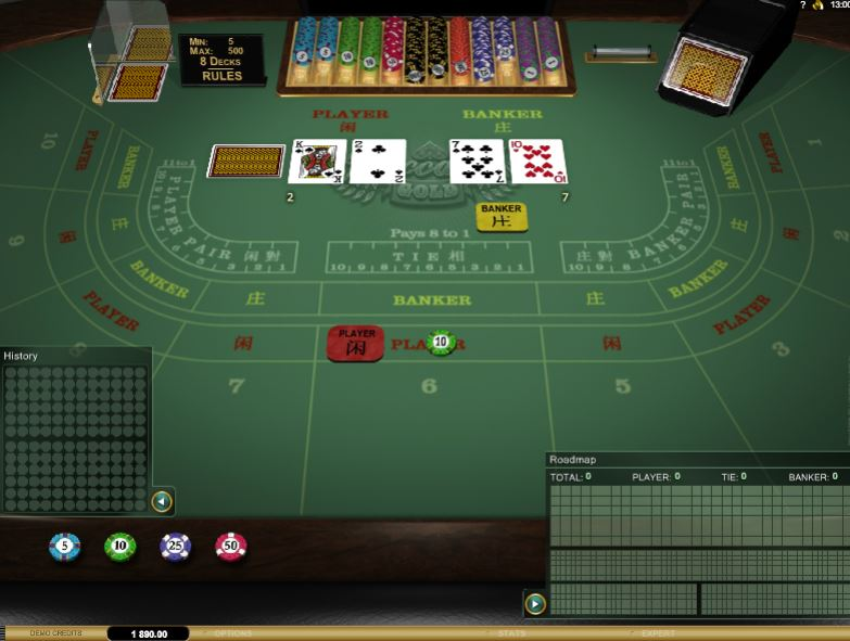 Baccarat pro více hráčů v online casinu Kassu Casino