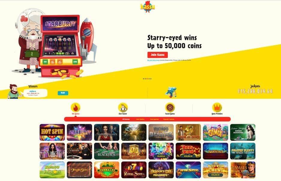 Online casino Kassu - home page