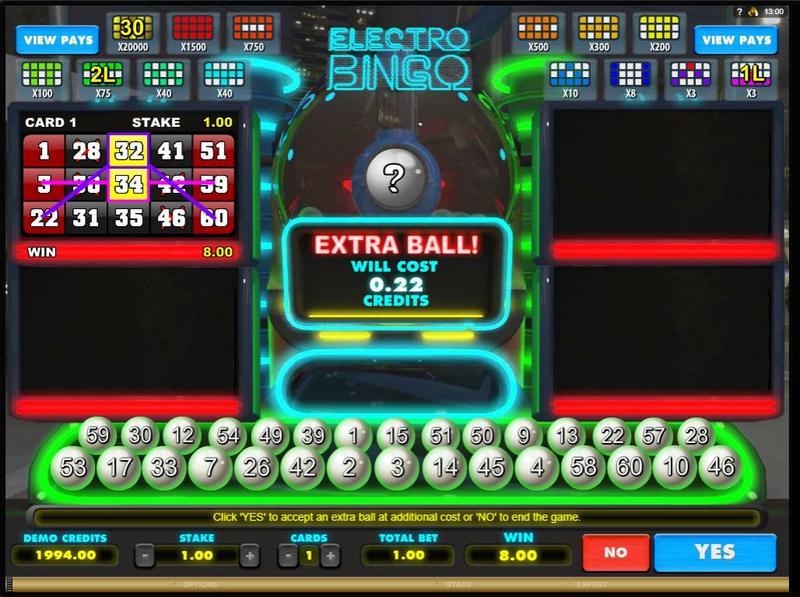Electric Bingo v online casinu King Billy
