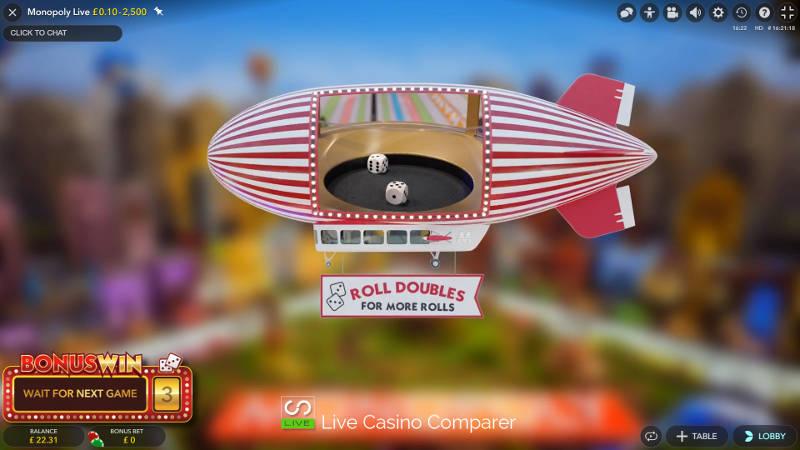Virtuální vrh kostek v 3D bonusové hře