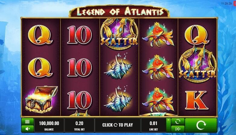 Free spiny na automat Legend of Atlantis