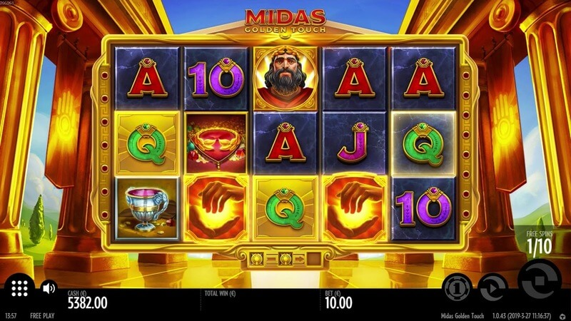 Free spiny na automat Midas Golden Touch