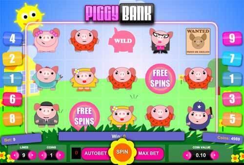 Free spiny na automaty Belatra: Piggy Bank a další