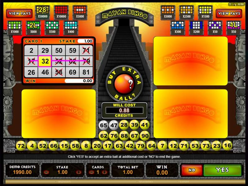Mayan Bingo online v casinu Playamo