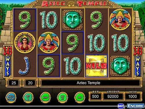 Free spiny na automat Aztec Temple