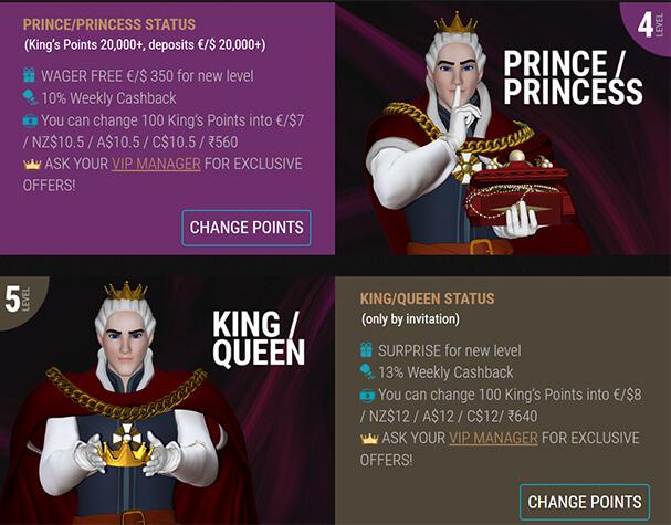 King Billy - VIP program