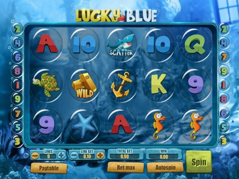 Free spiny na automat Lucky Blue