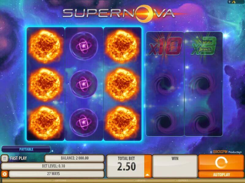 Free spiny na automat Supernova a další hry