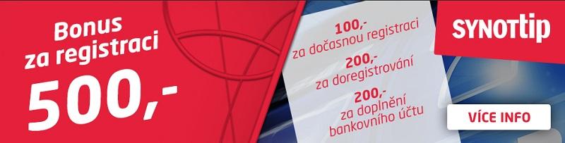 SynotTip 500 Kč zdarma