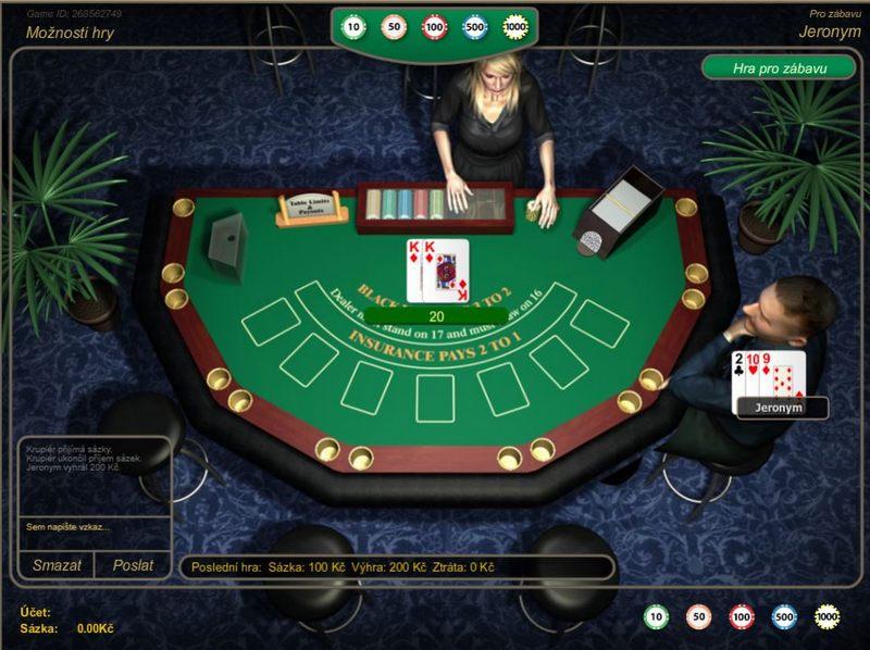 Blackjack v casinu SynotTip