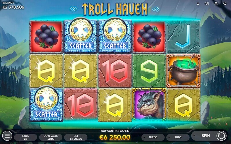 Free spiny na automat Troll Haven