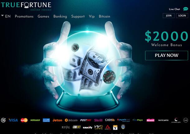 Hrát v online casinu TrueFortune Casino