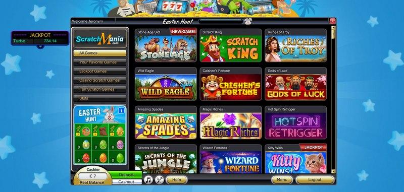 Online casino ScratchMania - bonus zdarma 7 € za registraci bez nutnosti vkladu